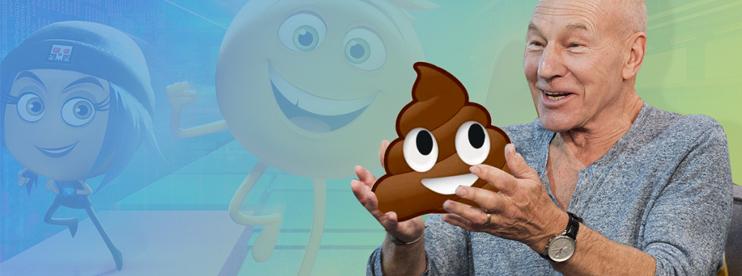 Patrick Stewart to Voice Poop Emoji in 'Emoji Movie'