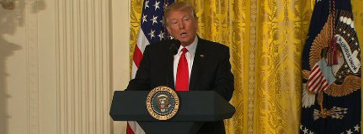"""A Fine-tuned machine"": Trump in an extraordinary press conference"