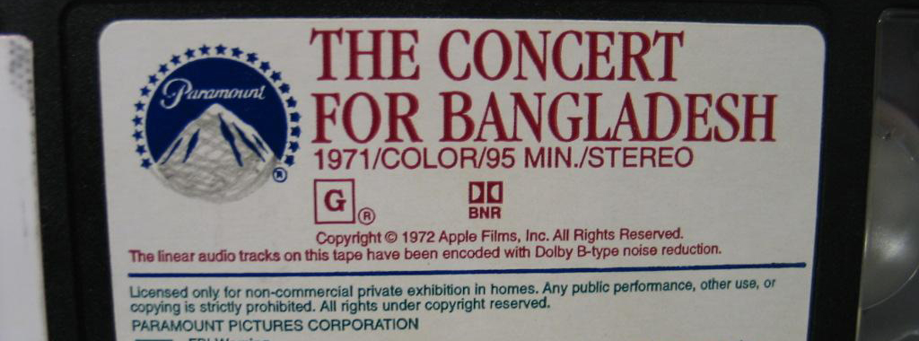 George Harrison: Concert for Bangladesh