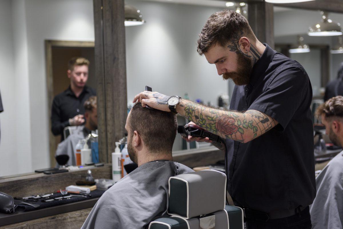 Everyman Barbers. Temple Street, Birmingham.