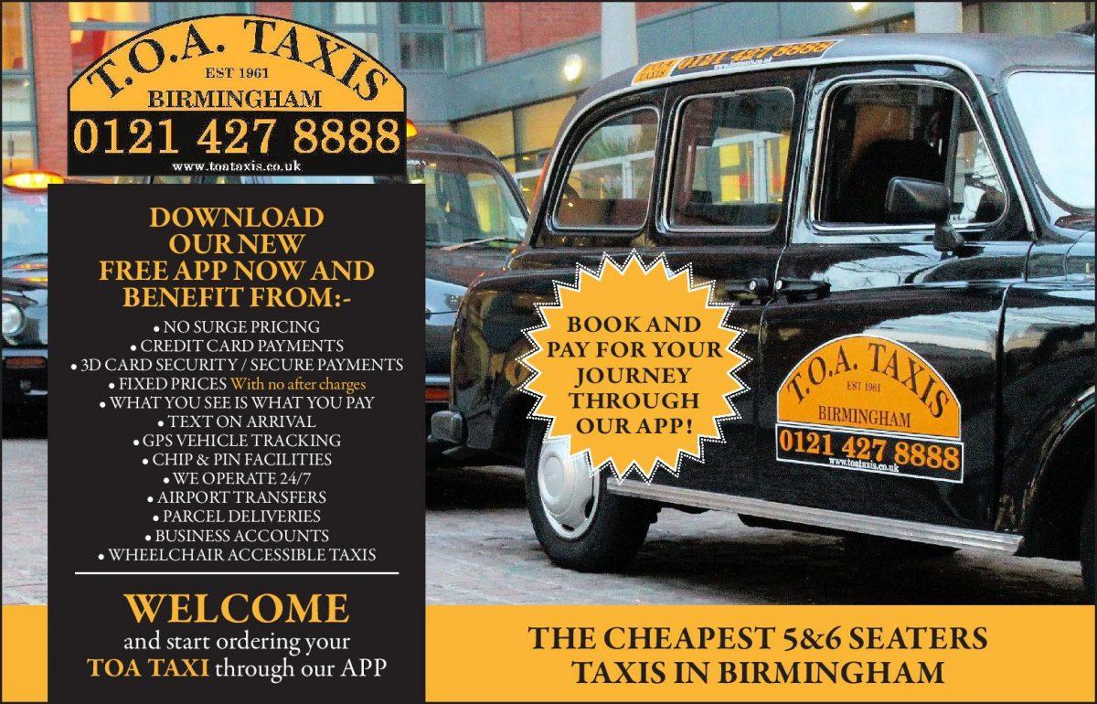 TOA Taxis | Birmingham's No1 Taxi Company