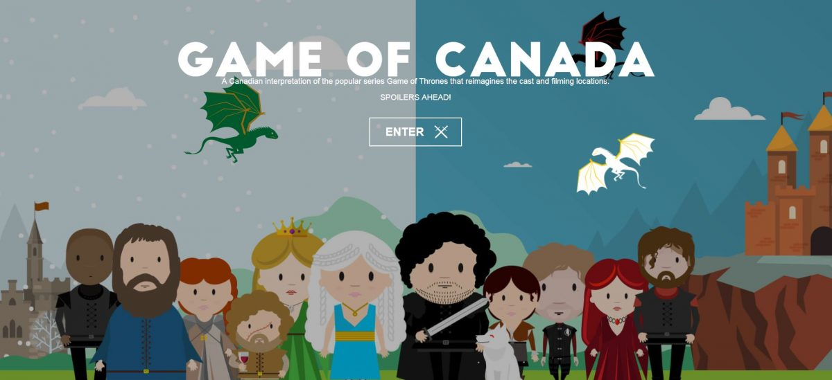 A Realm Reborn: Canada Does Game of Thrones