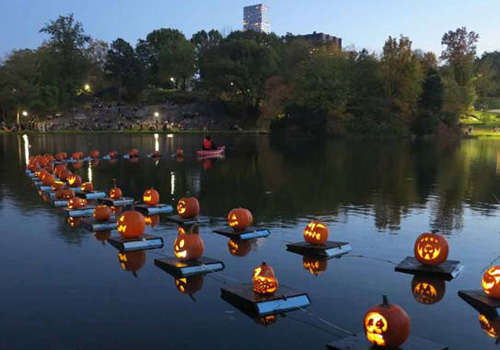 Halloween Pumpkin Flotilla in Central Park