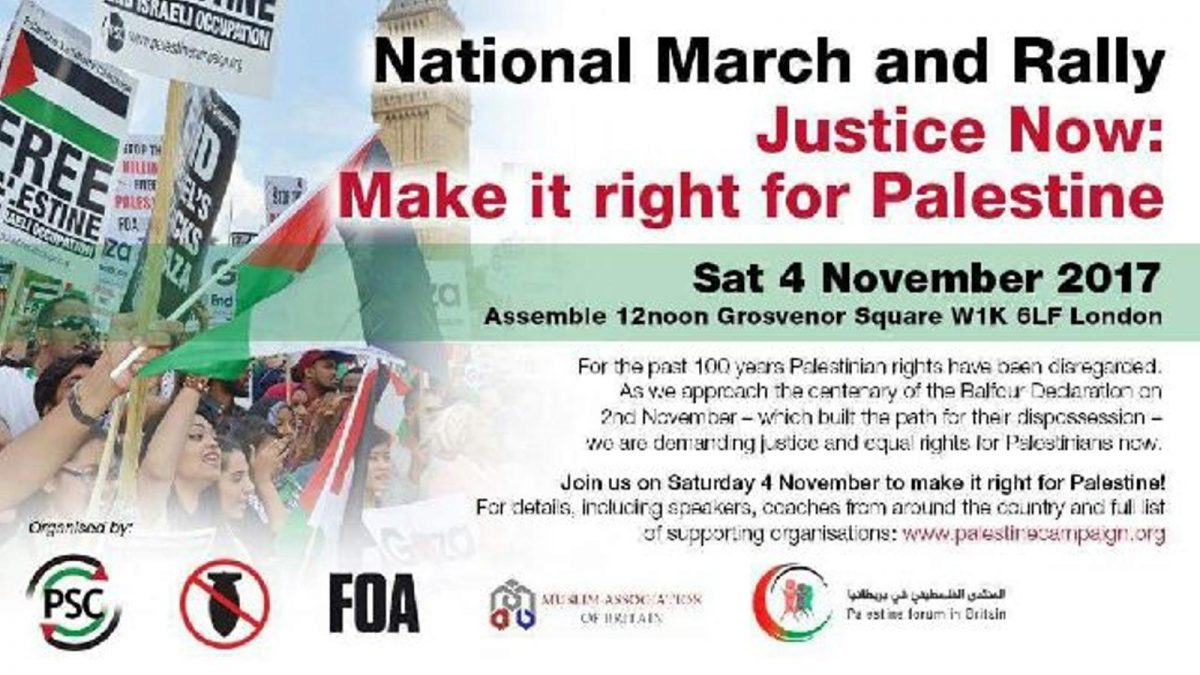 National March and Rally Justice Now: Make it right for Palestine