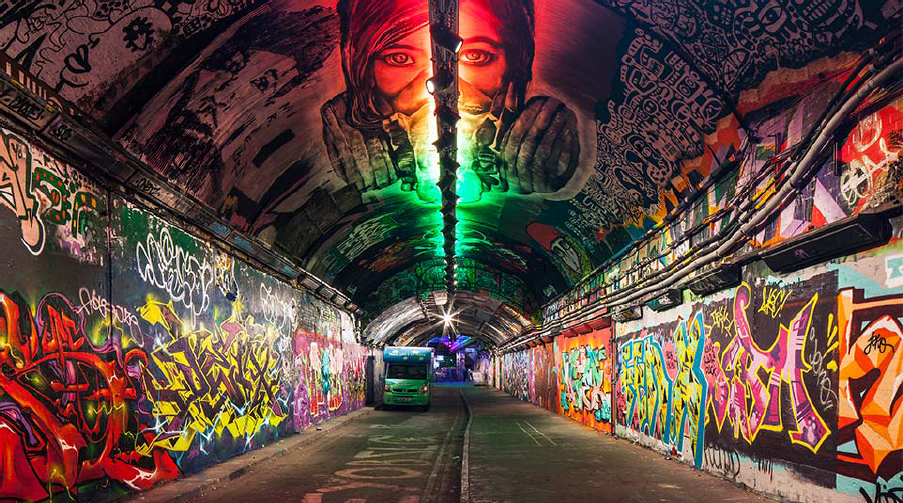 Leake Street Graffiti Tunnel Gets Lit