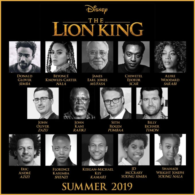 Beyonce, Chiwetel Ejiofor and more Part of Lion King Cast