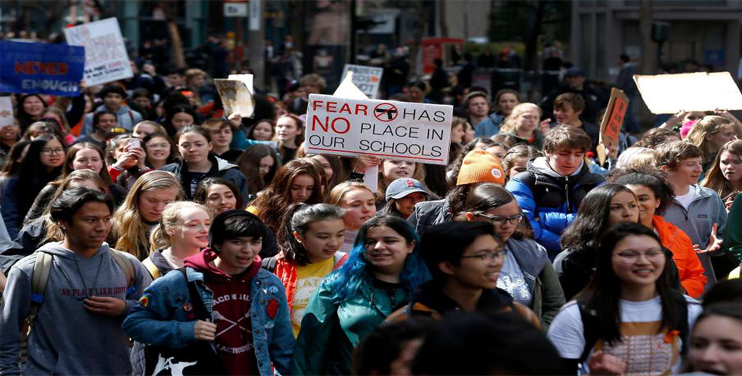 Thousands of Students Protest Against Gun Violence in the U.S
