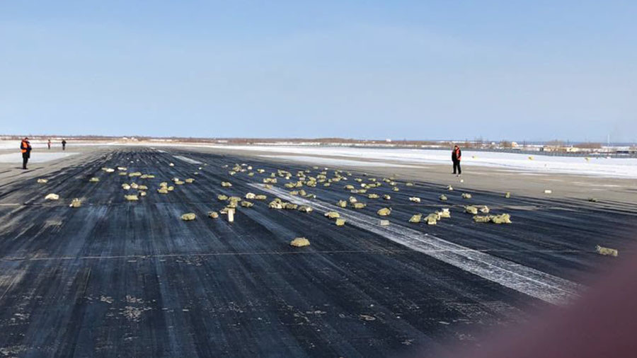 Tons of Gold-Silver Bars Fall from plane in Russia