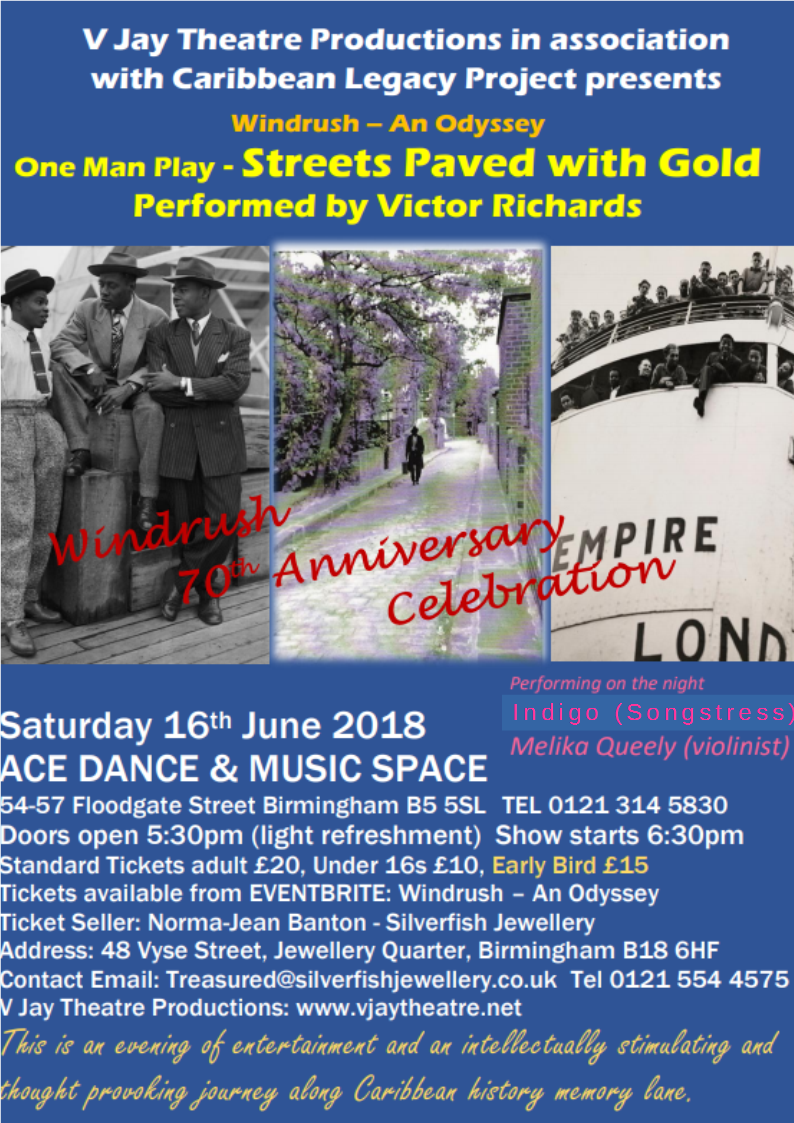Victor Richards Streets Paved with Gold – A Windrush 70th Celebration event