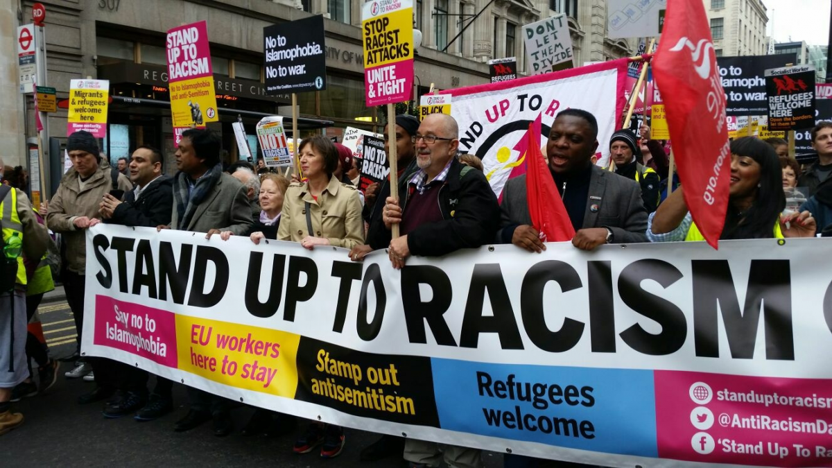 Stand Up To Racism Demonstration – Saturday 17 November 2018