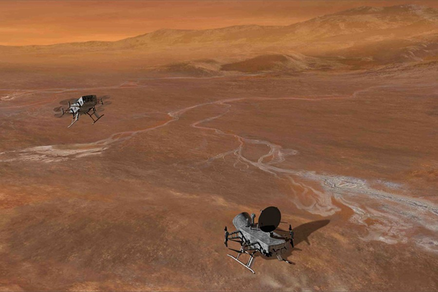 NASA Announces Dragonfly Mission:  Drones to Saturn Moon Titan