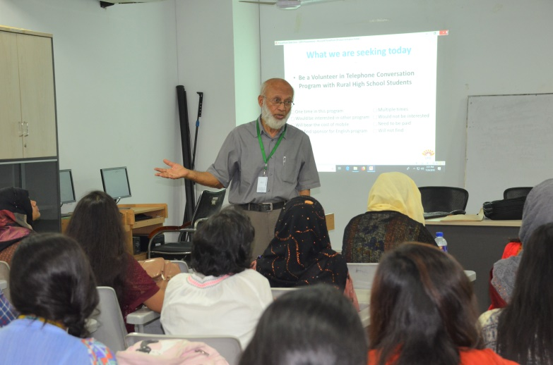 Workshop  by VAB at the Department of English, UAP