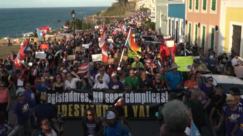 Nearly 100,000 Protest for Puerto Rico Governor Resign over Lewd Texts & Corruption