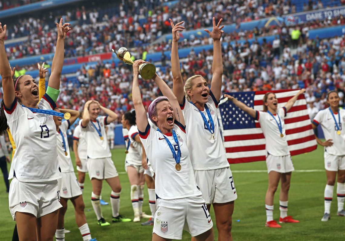 Triumphant US Women's Football Team Continue Fight For Equal Pay