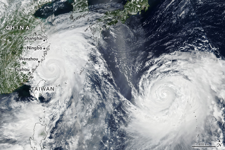 China hit by typhoon Lekima