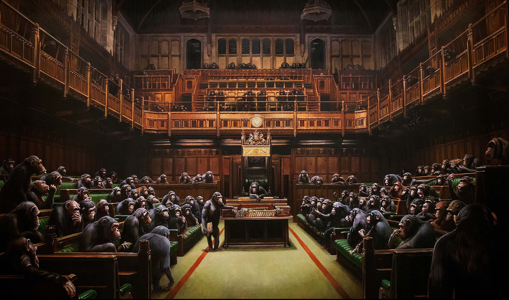 Parliament of the Apes: Banksy's new painting sells for nearly 10 million