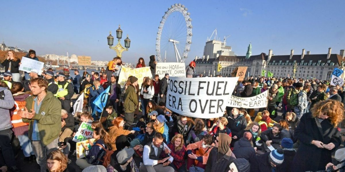 Arrests carried out at the Extinction Rebellion protest in London