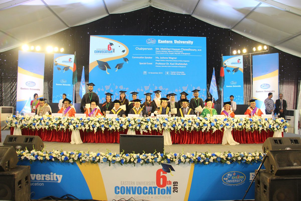 Convocation Held at Eastern University