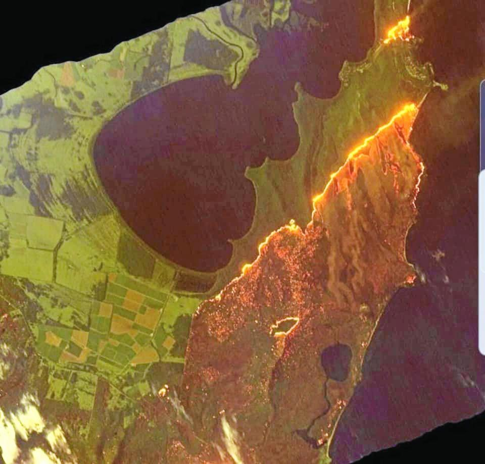 Aerial-footage-shows-Australian-bushfires- what's on
