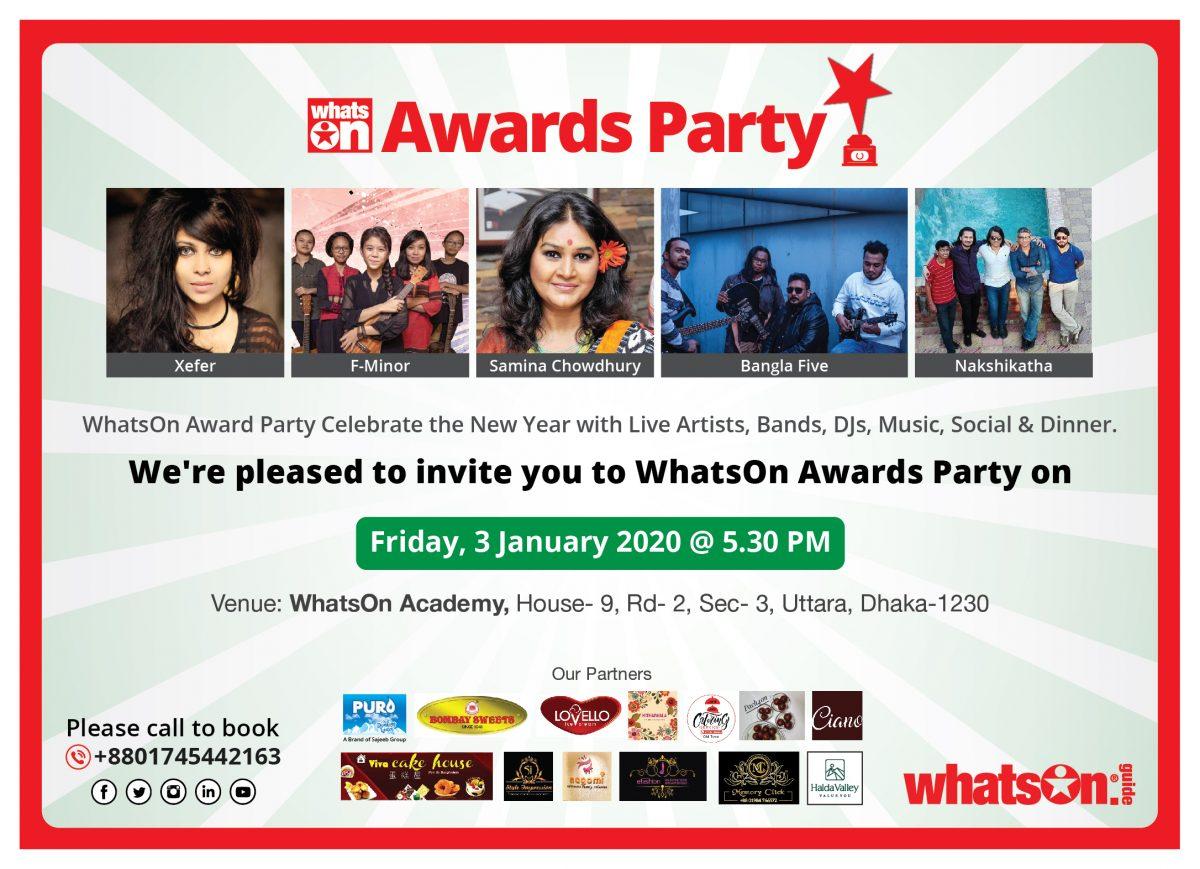 WhatsOn Award Party 2020!