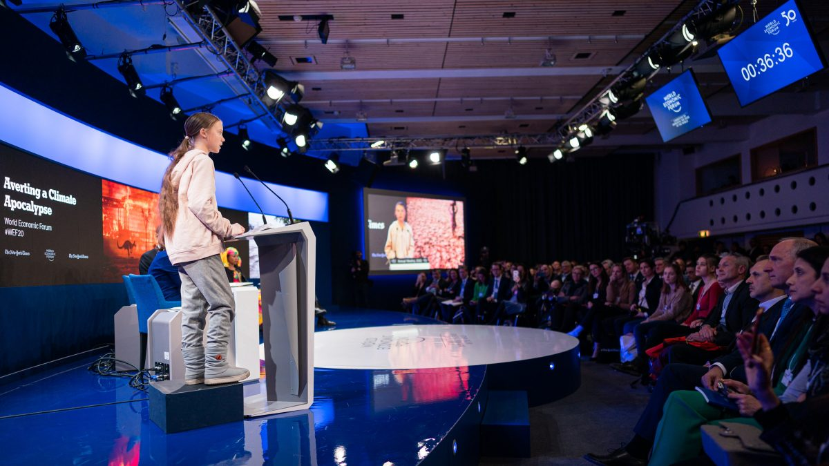 """""""Our House Is Still On Fire"""": Thunberg Addresses #Davos2020"""