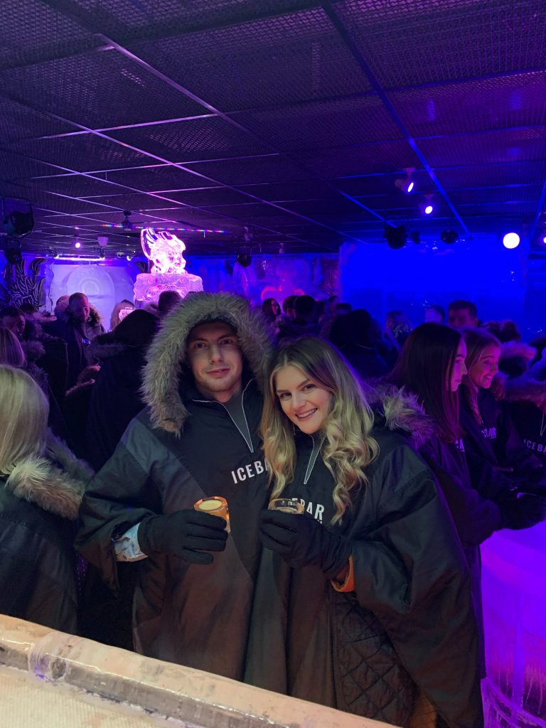 Chilling at the Ice Bar