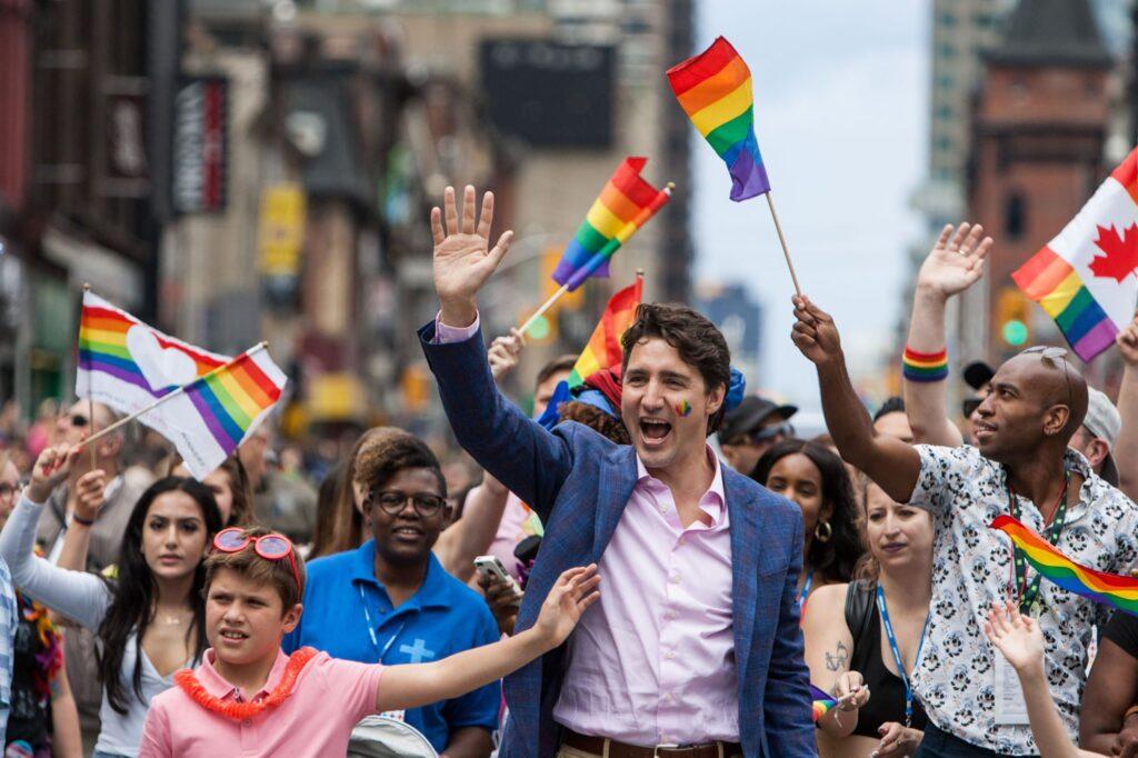 Justin Trudeau Pride March