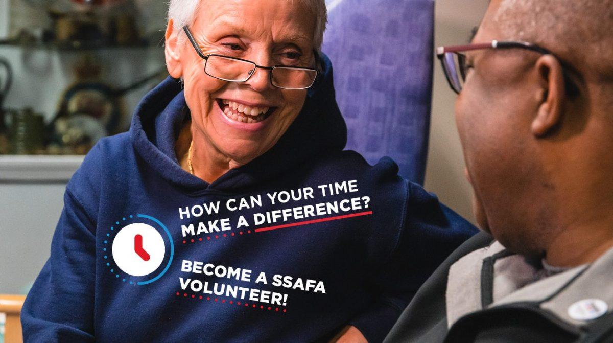 How can your time make a difference? Become a SSAFA volunteer